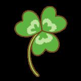 クローバーのフリーイラスト Clip art of clover