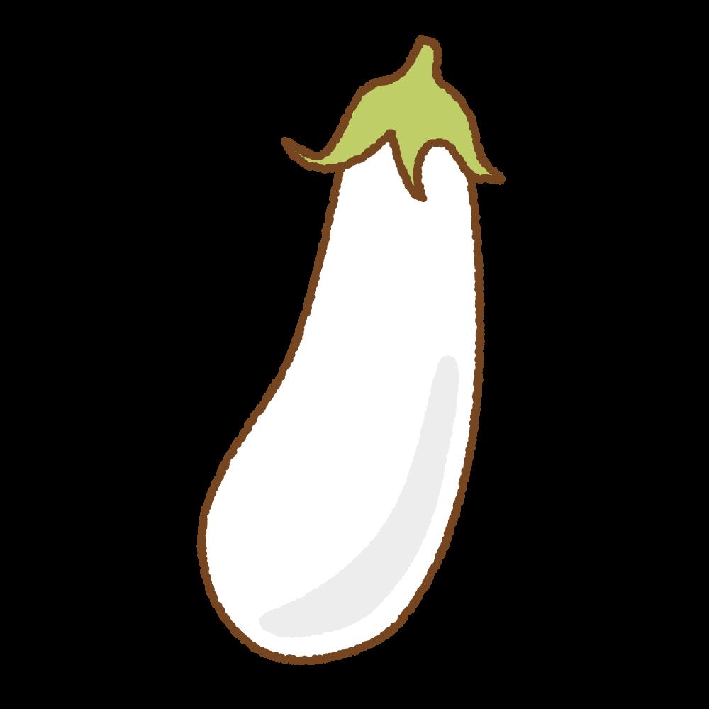 白ナスのフリーイラスト Clip art of white eggplant