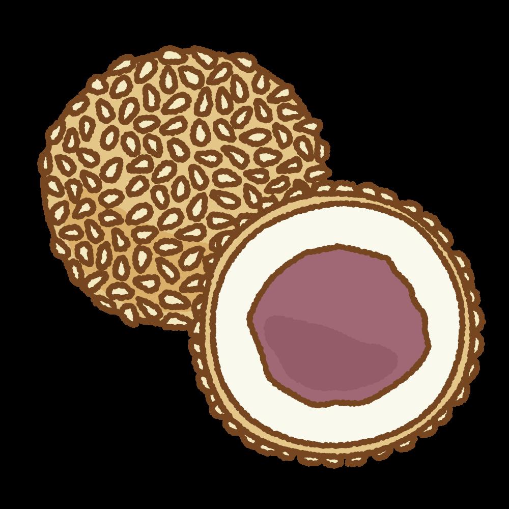 ごま団子のフリーイラスト Clip art of goma-dango