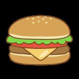 ハンバーガーのフリーイラスト Clip art of hamburger