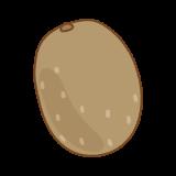 キウイのフリーイラスト Clip art of kiwifruit