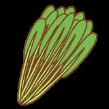 壬生菜のフリーイラスト Clip art of mibuna