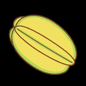 スターフルーツのフリーイラスト Clip art of starfruit