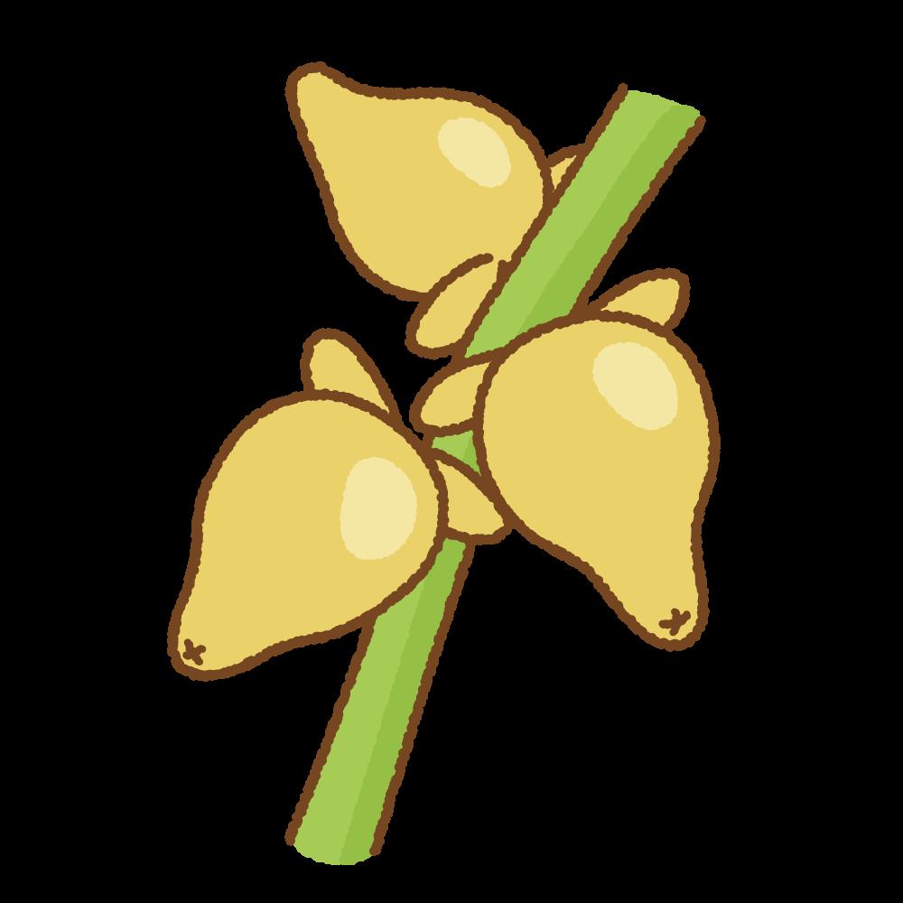 ツノナスのフリーイラスト Clip art of tsuno-nasu