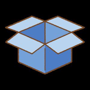 青い箱のフリーイラスト Clip art of blue box