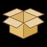 箱のフリーイラスト Clip art of box