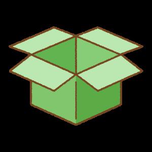 緑の箱のフリーイラスト Clip art of green box