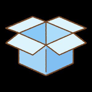 水色の箱のフリーイラスト Clip art of light-blue box