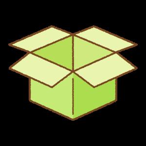 黄緑の箱のフリーイラスト Clip art of light-green box