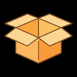 オレンジの箱のフリーイラスト Clip art of orange box