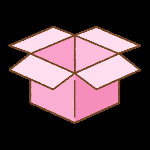 ピンクの箱のフリーイラスト Clip art of pink box
