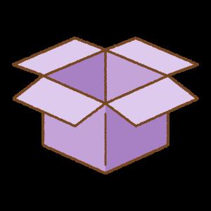 紫の箱のフリーイラスト Clip art of purple box