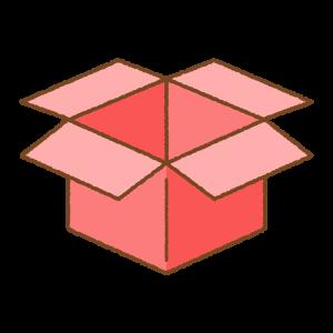 赤い箱のフリーイラスト Clip art of red box