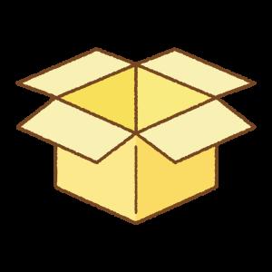 黄色い箱のフリーイラスト Clip art of yellow box