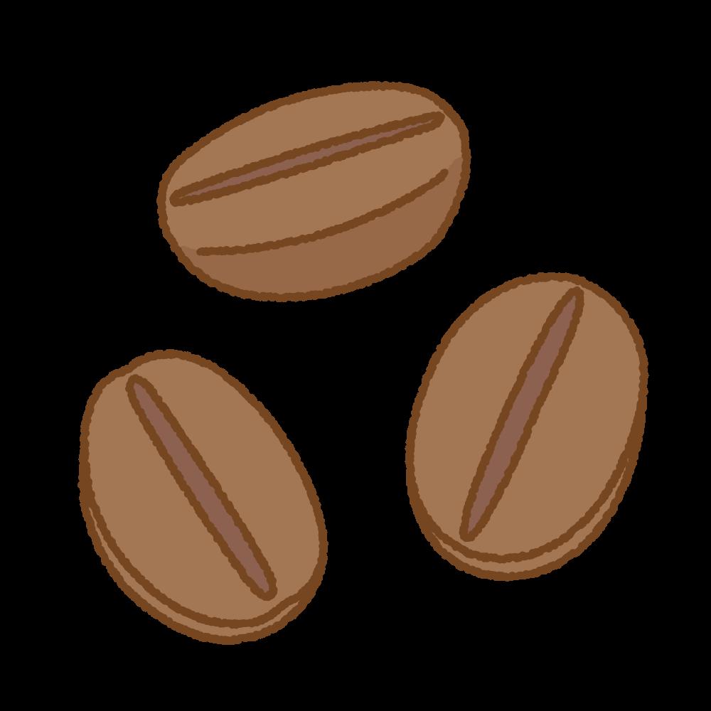 コーヒー豆のフリーイラスト Clip art of coffee beans
