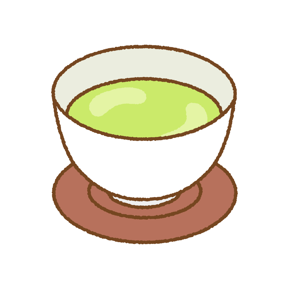 緑茶のフリーイラスト Clip art of green-tea