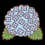 アジサイのフリーイラスト Clip art of hydrangea