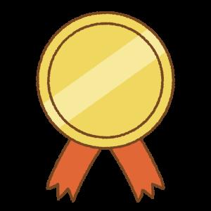 金のメダルのフリーイラスト Clip art of gold medal