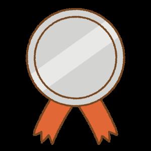 銀のメダルのフリーイラスト Clip art of silver medal