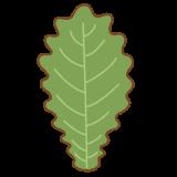 柏の葉っぱのフリーイラスト Clip art of oak leaf