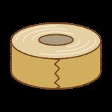 ガムテープのフリーイラスト Clip art of packing-tape