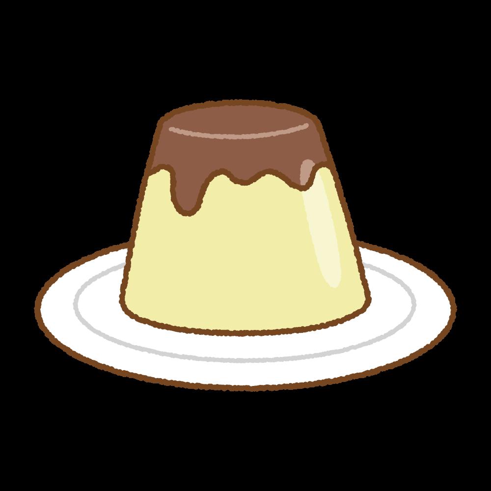 プリンのフリーイラスト Clip art of pudding