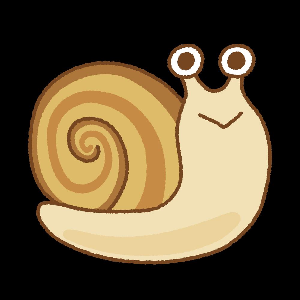 カタツムリのフリーイラスト Clip art of snail