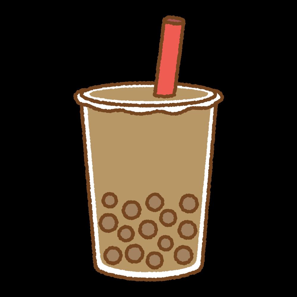 タピオカドリンクのフリーイラスト Clip art of tapioca drink