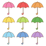 傘のフリーイラスト Clip art of umbrella
