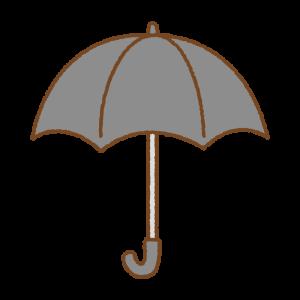 黒い傘のフリーイラスト Clip art of black umbrella