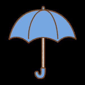 青い傘のフリーイラスト Clip art of blue umbrella