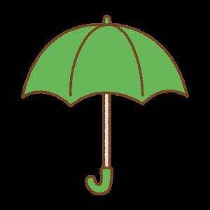 緑の傘のフリーイラスト Clip art of green umbrella