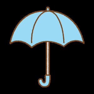 水色の傘のフリーイラスト Clip art of light-blue umbrella
