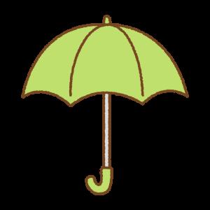 黄緑の傘のフリーイラスト Clip art of light-green umbrella