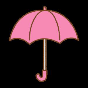 ピンクの傘のフリーイラスト Clip art of pink umbrella