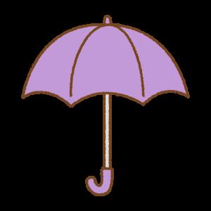 紫の傘のフリーイラスト Clip art of purple umbrella