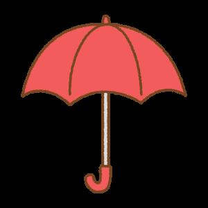 赤い傘のフリーイラスト Clip art of red umbrella