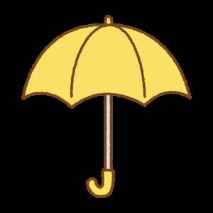 黄色の傘のフリーイラスト Clip art of yellow umbrella
