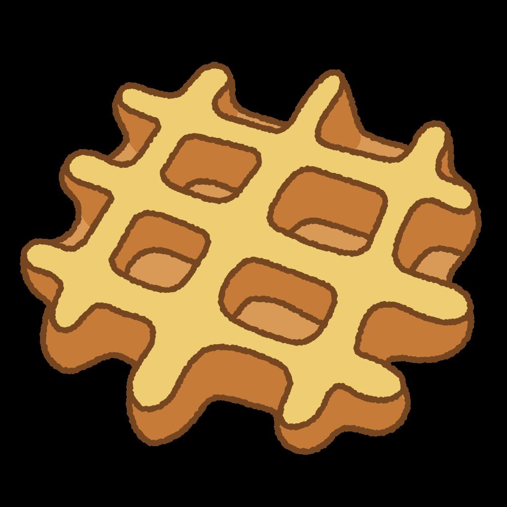 ワッフルのフリーイラスト Clip art of waffle