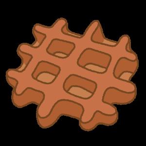 チョコレートワッフルのフリーイラスト Clip art of chocolate waffle