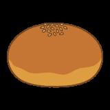 あんパンのイラスト