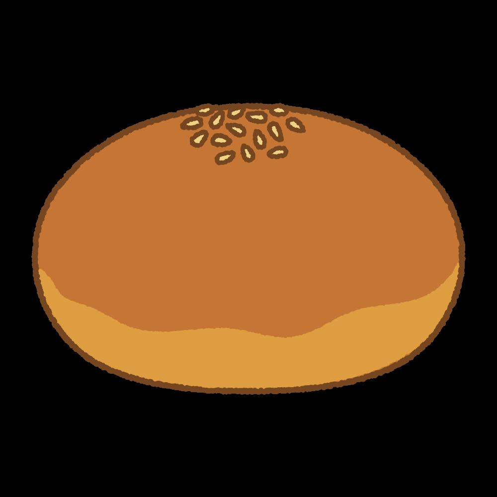 あんパンのフリーイラスト Clip art of anpan