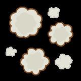 ホコリのフリーイラスト Clip art of dust