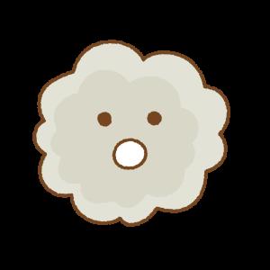 ホコリのキャラクターのフリーイラスト Clip art of dust chara