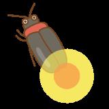 ホタルのフリーイラスト Clip art of firefly