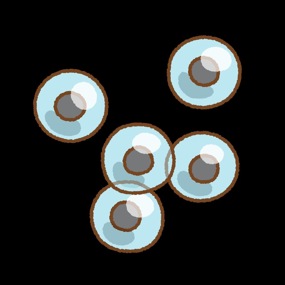 カエルの卵のフリーイラスト Clip art of frog's egg