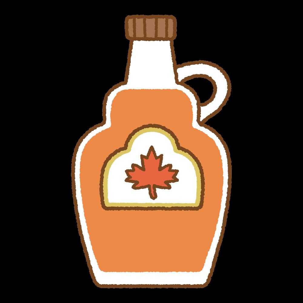 メープルシロップのフリーイラスト Clip art of maple syrup