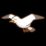 カモメのフリーイラスト Clip art of seagull