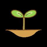芽のフリーイラスト Clip art of sprout