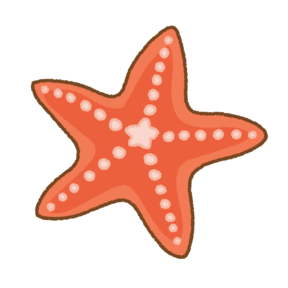 ヒトデのフリーイラスト Clip art of starfish